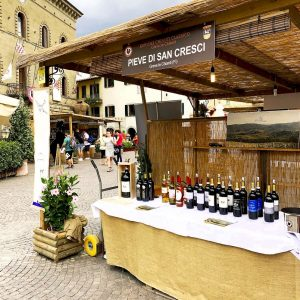 San Cresci Wines booth at the Chianti Wine Expo in Greve